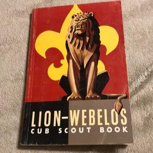 Vintage Lion-Webelos Cub Scout Book